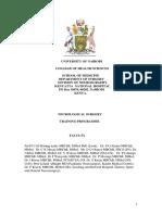 University of Nairobi Neurosurgery Resident's Handbook