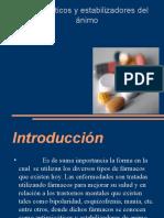 Antipsicóticos y Estabilizadores Del Ánimo
