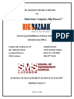 Consumer Behaviour Company (Big Bazaar) Anup Kumar Verma