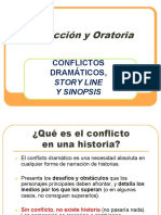 Conflicto Dramático, Story Line Sinopsis (Clase 8 Noviembre 2016)