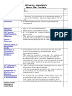 lesson plan template temperature