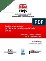 Revista Internacional de Educación Para la Justiça Social