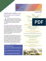 December 2009 Leadership Conference of Women Religious Newsletter