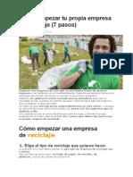 Cómo empezar tu propia empresa de reciclaje.docx