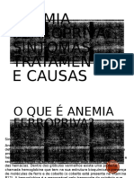 Cardápio Anemia