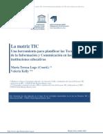 La matriz TIC. Una herramienta para planificar las Tecnologías de la Información y Comunicación en las instituciones educativas.pdf