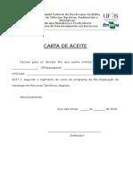 Carta de Aceite Seleo 2017.1