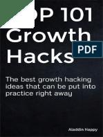 TOP 101 Growth Hacks by Aladdin Happy