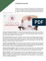 10 Conselhos Do Papa Francisco Aos Jovens