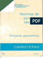 SERVICIOS TÉCNICOS PROYECTO GEOMETRICO