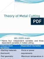 Theory of Metal Cutting, Metal Forming