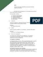 GENERALIDADES DE UN PROYECTO DE INVESTIGACIÓN
