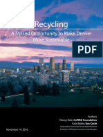 Recycling a Missed Opportunity to Make Denver More Sustainable
