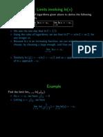 Limits involving ln(x)