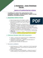 History Summary – Juan Domingo Perón