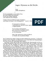 Hildegard von Bingen - Hymnus an die Kirche