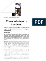 Closer Relations to Continue