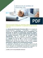 Postulados Básicos de Las Normas de Información Financiera