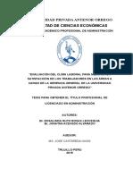 Evaluación Del Clima Laboral Para Mejorar La Satisfacción de Los Trabajadores en Las Areas a Cargo de La Gerencia