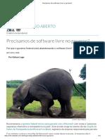 Precisamos de Software Livre No Governo
