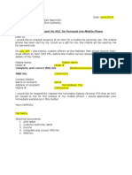 PTA NOC Application Sample