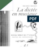 La Dictée en Musique 1