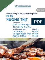 Dinh dưỡng và An toàn Thực phẩm - Nướng thịt