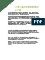Que Se Necesita Para Desarrollar Una Página Web