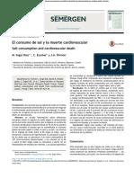 El Consumo de Sal y La Muerte Cardiovascular