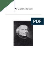 Der Canon Muratori