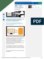 Aprende a Crear Una Base de Datos y SQL [Practica1]