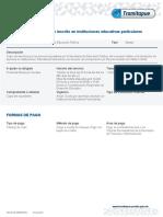 Trámites y Servicios - Cuotas Por Alumno Inscrito en Instituciones Educativas Particulares (1)