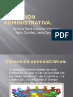 Dimensión Administrativa