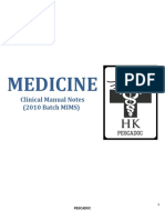 Medicine Clinical Notes