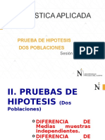 Sesión N_10 Prueba de Hipotesis- Dos Poblaciones