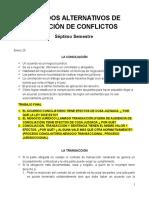 Cuaderno Métodos Alternativos de Solución de Conflictos