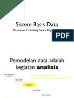 Bab - 3 - Modeling Data in Organization