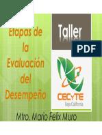 Evaluacion Del Desempeño 2016 Mtro. Mario Felix Muro