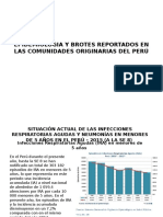 Epidemiologia y Brotes Reportados en Las Comunidades Originarias