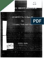 dsch.dimitri.chostakovitch.shostakovich.schostakowich.quartet.quatuor.n°2.sheet.partition.violin.cello.violon.by.kafi