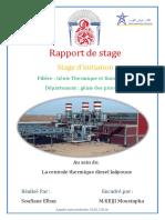 Rapport de Stage Centrale Thermique Diesel Laâyoune ONE
