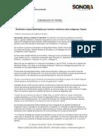 21/10/16 Deslindan responsabilidades por hechos violentos entre indígenas Yaquis -C.101681