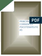 Principales Corrientes Psicoterapeuticas