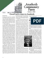 Summer 2006 Anathoth Community Farm Newsletter