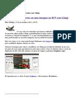 GIMP - Imagen en BN Con Un Sector en Color