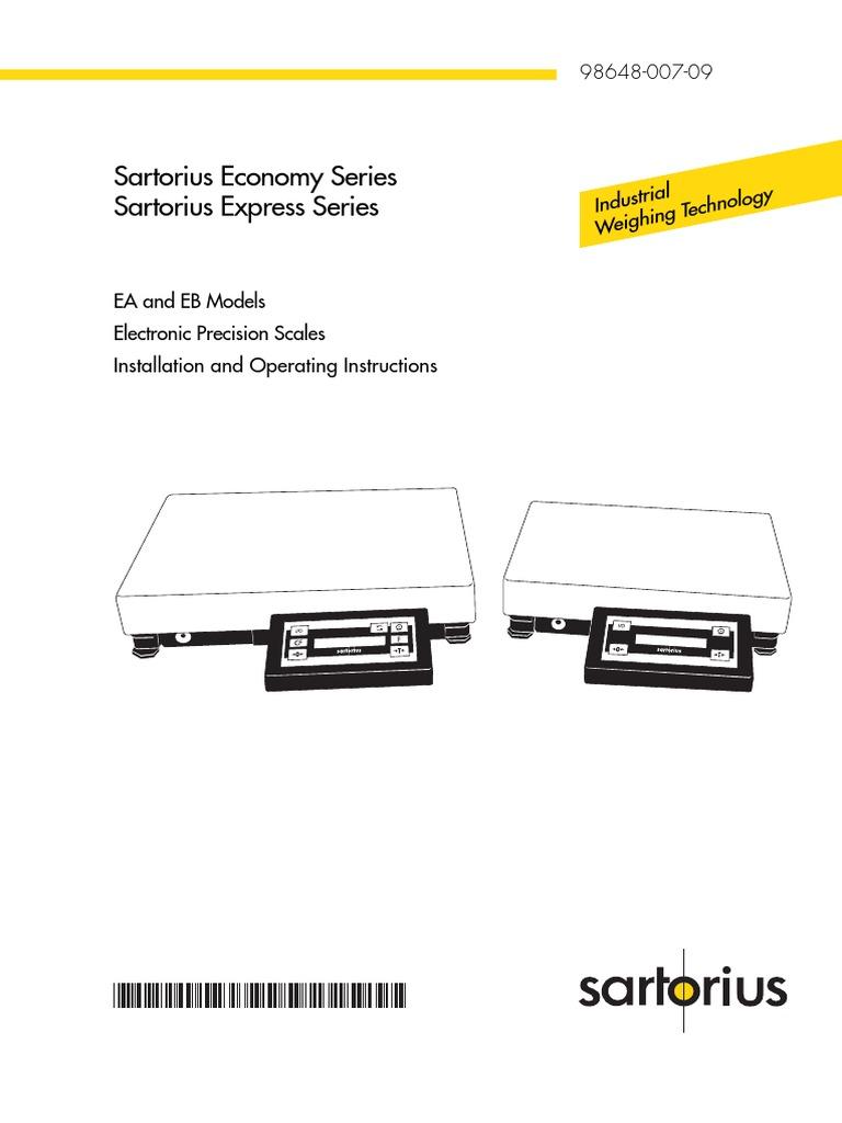 Sartorius combics 1 manuals.