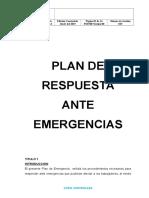 Plan de Respuesta Ante Emergencias 2016