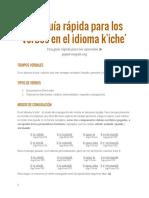 Guía rápida para verbos en idioma K'iche