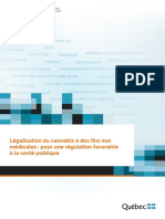 Légalisation du cannabis à des fins non médicales