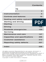 Ford Mustang 2001 1998-2004 Manual Usuario Ingles